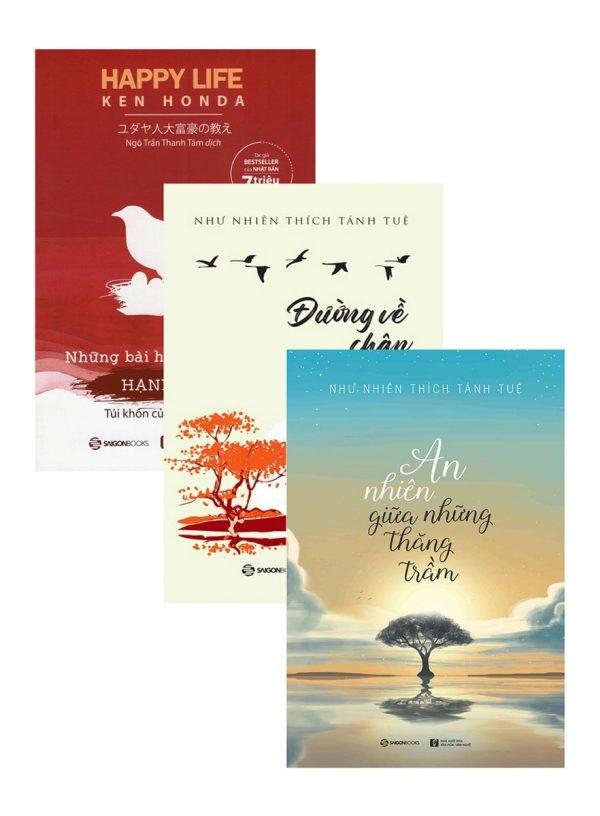 Combo An Nhiên Giữa Những Thăng Trầm + Đường Về Chân Hạnh Phúc + Những Bài Học Đáng Giá Về Hạnh Phúc (Bộ 3 Cuốn)