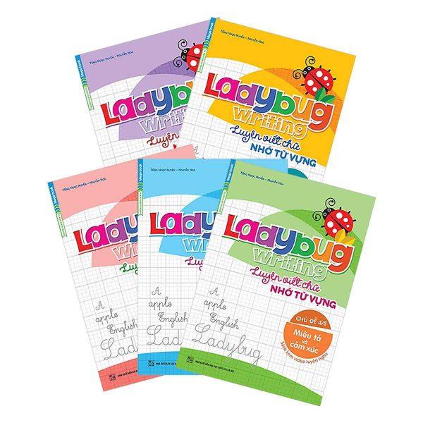 Combo Ladybug Writing Luyện Viết Chữ - Nhớ Từ Vựng (Bộ 5 Cuốn)