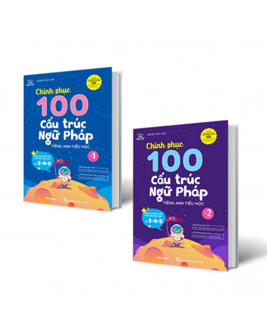 Combo Chinh Phục 100 Cấu Trúc Ngữ Pháp Tiếng Anh Tiểu Học - Tập 1 + 2
