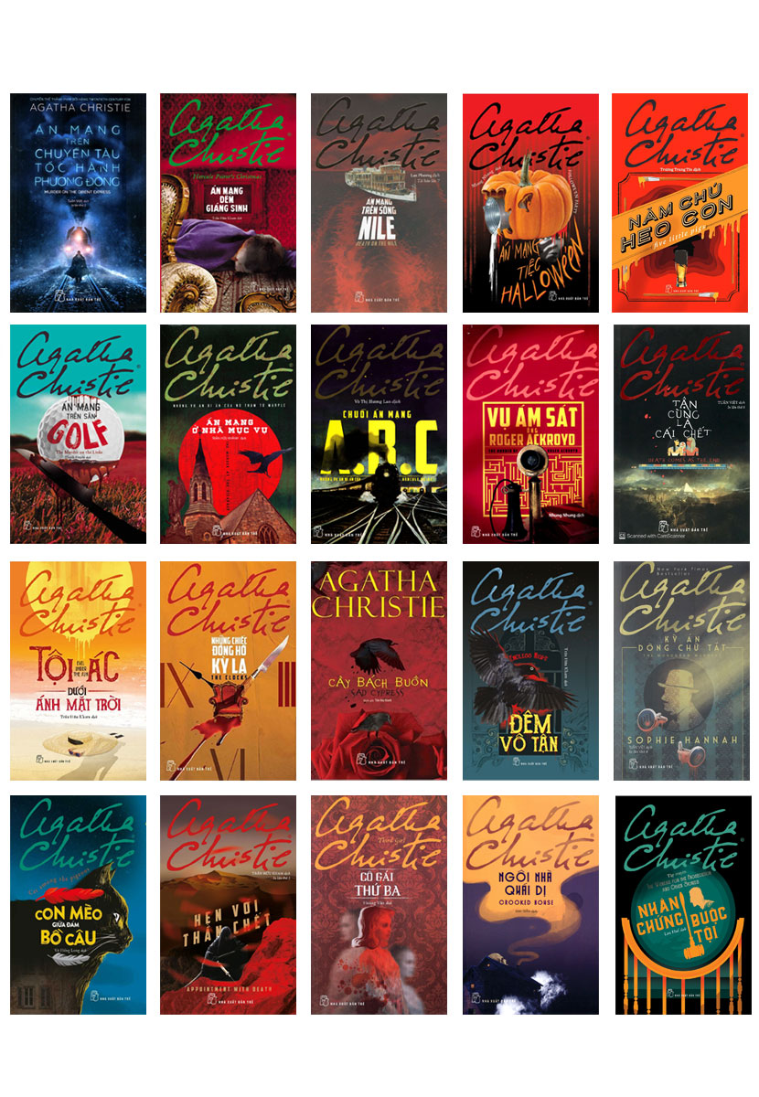 Combo Sách Của Agatha Christie (Bộ 20 cuốn)