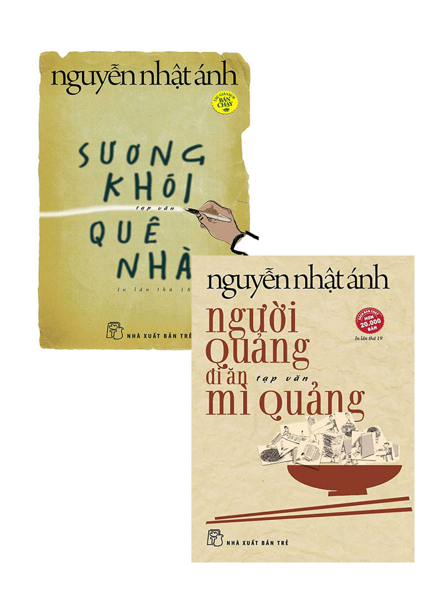Combo Sương Khói Quê Nhà + Người Quảng Đi Ăn Mì Quảng (Bộ 2 Cuốn)